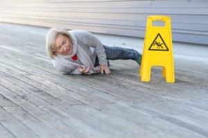 You may need a slip and fall lawyer